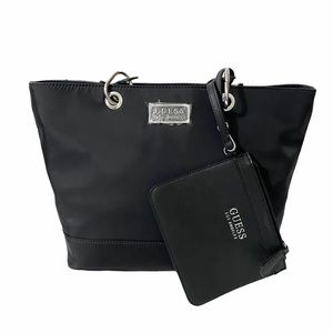 NWT Guess Black Tote and Wristlet